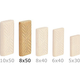 Festool 493299 8mm x 22mm x 50mm Domino Beech Tenons (600-Pack)