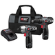 Porter-Cable PCL212IDC-2 Tradesman 12V Max Cordless Lithium-Ion 3/8 in. Drill Driver and Impact Driver Combo Kit