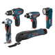 Factory Reconditioned Bosch CLPK50-120-RT 12V Max Cordless Lithium-Ion 5-Tool Combo Kit