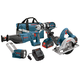 Factory Reconditioned Bosch CLPK402-181-RT 18V 4.0 Ah Cordless Lithium-Ion 4-Tool Combo Kit