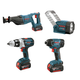 Factory Reconditioned Bosch CLPK411-181-RT 18V Lithium-Ion 4-Tool Combo Kit