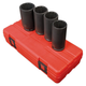 Sunex 2837 4-Piece 1/2 in. Drive 12-Point Metric Deep Spindle Nut Impact Socket Set
