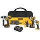 Dewalt DCK492L2 20V MAX Cordless Lithium-Ion 4-Tool Premium Combo Kit