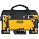 Factory Reconditioned Dewalt DCK285L2R 20V MAX Cordless Lithium-Ion 1/2 in. Compact Hammer Drill and Impact Driver Combo Kit