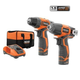 Factory Reconditioned Ridgid ZRR9000SB 12V Lithium-Ion 2-Speed Drill Driver and Impact Driver Combo Kit