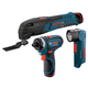 Factory Reconditioned Bosch CLPK33-120-RT 12V Max Cordless Lithium-Ion 3-Tool Combo Kit