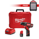 Milwaukee 2407-2592-BNDL M12 12V Lithium-Ion 3/8 in. Drill Driver Kit with FREE M12 Wireless Jobsite Speaker