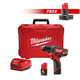 Milwaukee 2407-2440-BNDL M12 12V Lithium-Ion 3/8 in. Drill Driver Kit with FREE M12 REDLITHIUM XC 4.0 Ah Extended Capacity Battery Pack