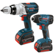 Bosch CLPK221-180 18V Cordless Lithium-Ion 1/2 in. Hammer Drill and Impact Driver Combo Kit