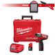 Milwaukee 2453-SEPT15-BNDL2 M12 FUEL 12V Cordless 1/4 in. Hex Impact Driver Kit with M12 12V Wireless Jobsite Speaker & FASTBACK Spring Assisted Serrated Knife