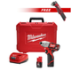 Milwaukee 2462-2415-BNDL M12 12V Lithium-Ion 1/4 in. Hex Impact Driver Kit with FREE M12 3/8 in. Right Angle Drill Driver