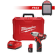 Milwaukee 2462-2592-BNDL M12 12V Lithium-Ion 1/4 in. Hex Impact Driver Kit with FREE M12 Wireless Jobsite Speaker