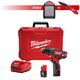 Milwaukee 2407-SEPT15-BNDL2 M12 12V Cordless 3/8 in. Drill Driver Kit with M12 12V Wireless Jobsite Speaker & FASTBACK Spring Assisted Serrated Knife