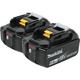 Makita BL1860B-2 18V LXT 6.0 Ah Lithium-Ion Battery (2-Pack)
