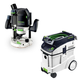 Festool P48574354 Router with CT 48 E 12.7 Gallon HEPA Dust Extractor