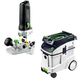 Festool P48574368 Modular Trim Router with CT 48 E 12.7 Gallon HEPA Dust Extractor