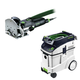 Festool P48574432 Domino Mortise and Tenon Joiner Set with CT 48 E 12.7 Gallon HEPA Dust Extractor