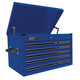 Homak BL02027901 27 in. 9 Drawer Professional Extended Top Chest (Blue)