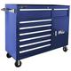 Homak BK04056082 56 in. 8 Drawer Roller Cabinet (Black)