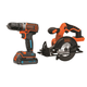 Black & Decker BDCDDBT120CS SMARTECH 20V MAX Lithium-Ion Drill Driver and Circular Saw Combo Kit