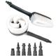 Powerwasher 80008 Rotary and Fixed-Hand Dual Brush Kit for Pressure Washers