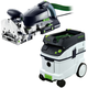 Festool P36574422 Domino XL Joiner with CT 36 E 9.5 Gallon HEPA Mobile Dust Extractor