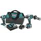 Makita XT268T 18V 5.0 Ah LXT Cordless Lithium-Ion Hammer Drill and Impact Driver Combo Kit