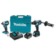 Makita XT267T 18V 5.0 Ah LXT Cordless Lithium-Ion Brushless Hammer Drill and Impact Driver Combo Kit