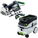 Festool P36574447 Domino XL Joiner Set with CT 36 E 9.5 Gallon HEPA Mobile Dust Extractor