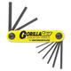 Bondhus 12585 GorillaGrip Fold-Up Tool Set, SAE, 3/16-in-3/8-in