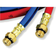 FJC 6445 Premium R134a 10-ft Charging Hoses, Red and Blue Set