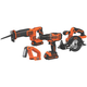 Factory Reconditioned Black & Decker BDCDHP2204KT 20V MAX Lithium-Ion 4-Tool Combo Kit