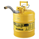 Justrite 7250230 Type II Accuflow Steel Safety Can for Diesel (5 Gallons)