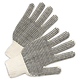 Anchor ANR6705 PVC-Dotted String Knit Gloves, Natural White/Black, 12 Pairs