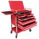 Sunex 8045 Professional 5 Drawer Service Cart with Locking Top (Red)