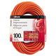 CCI 0627 100 ft. Outdoor Round Vinyl Extension Cord (Orange)
