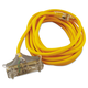 Coleman Cable 34870002 25 ft. Polar/Solar 3-Outlet Outdoor Extension Cord (Yellow)