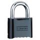 Master Lock 470-178BLK No. 178 Solid Brass Combination Resettable Padlock (Box of 6)