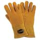 West Chester 813-6030-L LG Insulated Top Grain Reverse Deerskin Mig Welding Gloves (Orange/Tan)
