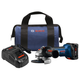 Bosch GWS18V-45B14 CORE18V 6.3 Ah Cordless Lithium-Ion 4-1/2 in. Angle Grinder Kit