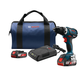 Bosch DDS183WC-102 18V 2.0 Ah Cordless Lithium-Ion Compact Tough 1/2 in. Drill Driver Kit with Wireless Battery