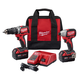Milwaukee 2799-22 M18 18V Cordless Lithium-Ion Compact Brushless Hammer Drill & Impact Driver Combo Kit