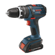Bosch HDS180-02 18V Cordless Lithium-Ion Compact Tough 1/2 in. Hammer Drill Driver with 2 Slim Pack Batteries