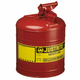 Justrite 7150100 Type I Steel Safety Can for Flammables (5 Gallons)