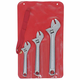Crescent AC3 3-Piece Adjustable Wrench Set 6 in., 8 in. & 10 in. with Tool Roll