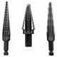 Irwin Unibit 10502 3-Piece Unibit Fractional Step Drill Bit Set