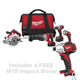 Milwaukee 2691-24P M18 18V Cordless Lithium-Ion 4-Tool Combo Kit with FREE Impact Driver