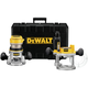 Dewalt DW618PK 2-1/4 HP EVS Fixed Base & Plunge Router Combo Kit with Hard Case