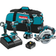 Makita XT446T 18V LXT Lithium-Ion Brushless Cordless 4-Pc. Combo Kit (5.0Ah)