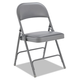 Alera ALEFC96G Steel Folding Chair with Two-Brace Support, Padded Back/Seat, Light Gray, 4/CT